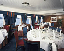 A view of the ship's dining rooms