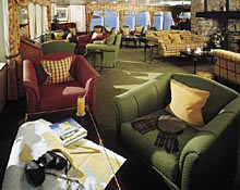 Inside the ship's lounge.