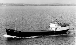 Incredibly, as a Coastal Ship in  1987