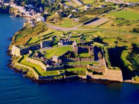 Kinsale's Charles Fort - one of the worlds' best preserved Star Forts. Summercove in Upper Left.