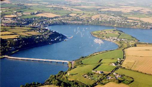 Looking North towards Castlepark and Kinsale.