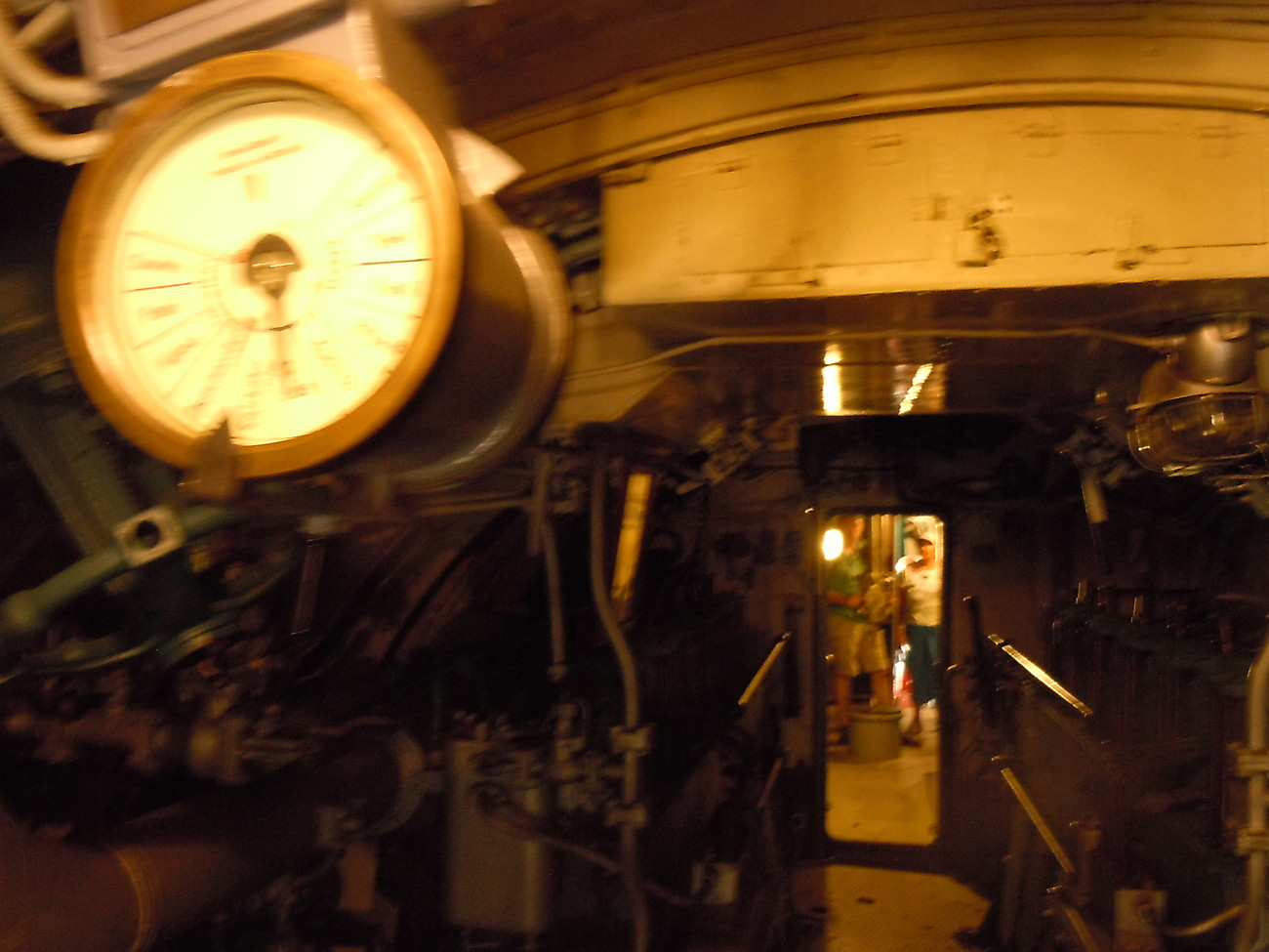 One of the two engine room telegraphs.