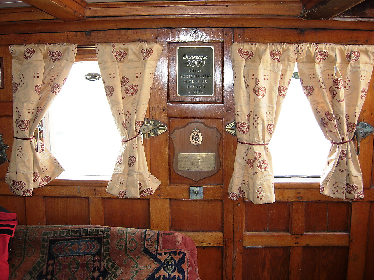 Plaques in main saloon.