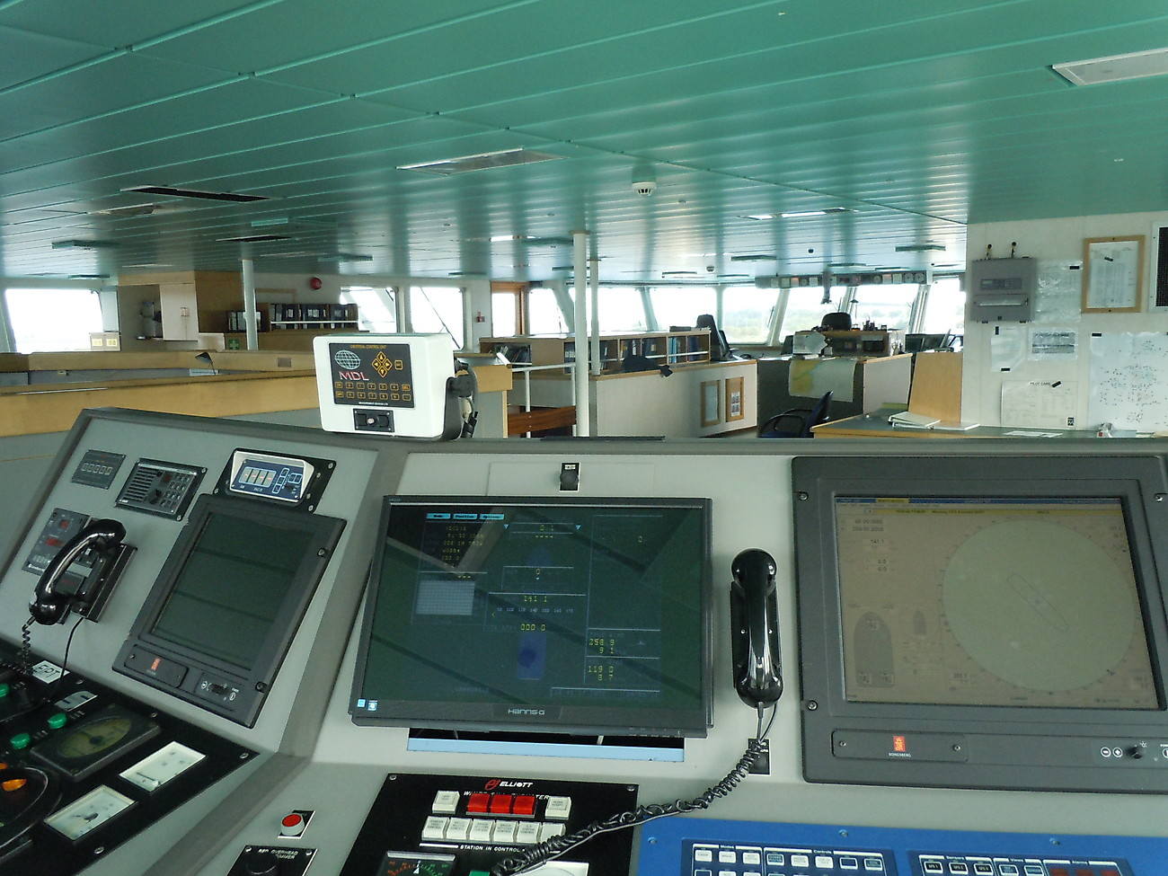 Bridge view - there are smaller computer rooms!