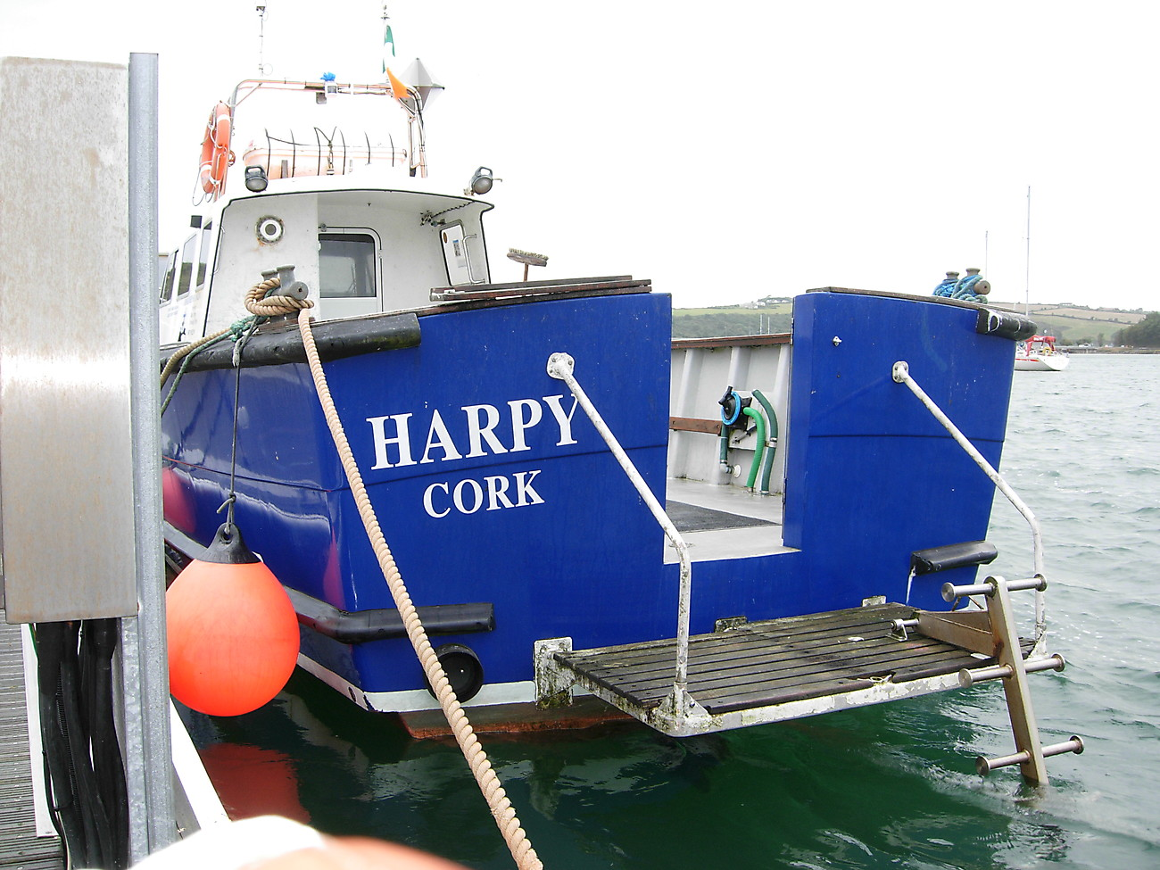 HARPY: Dive  ladder down, stern door open.