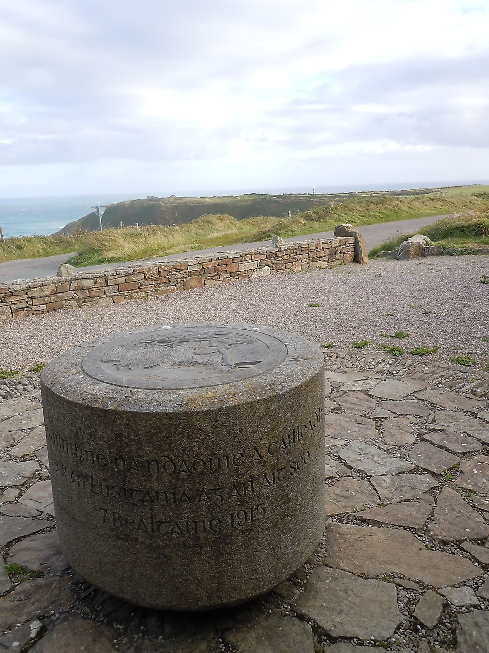 Old Head memorial to Lusitania victims.