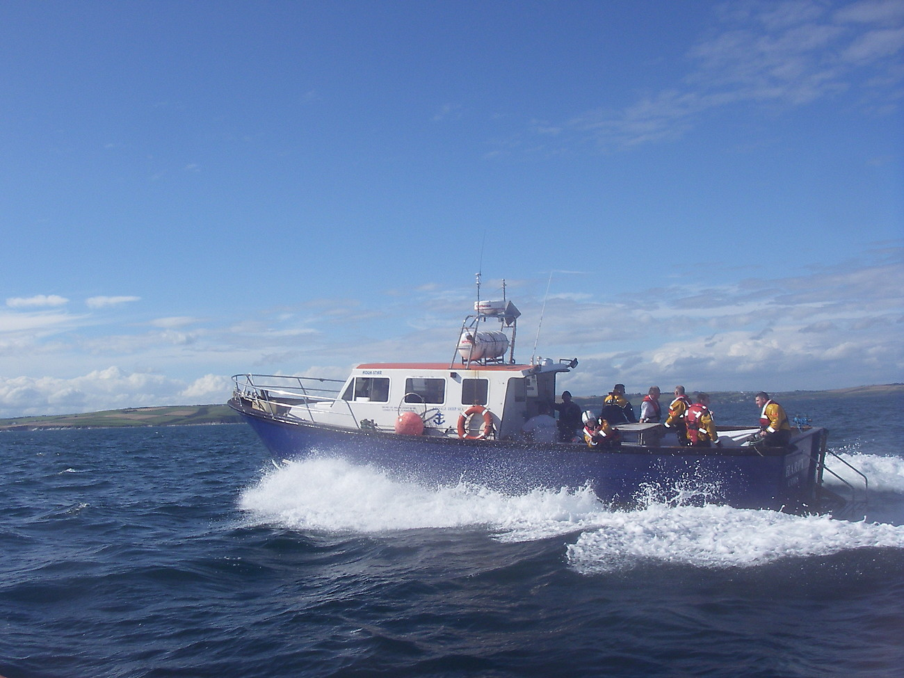 Exercise with Kinsale lifeboat crew.