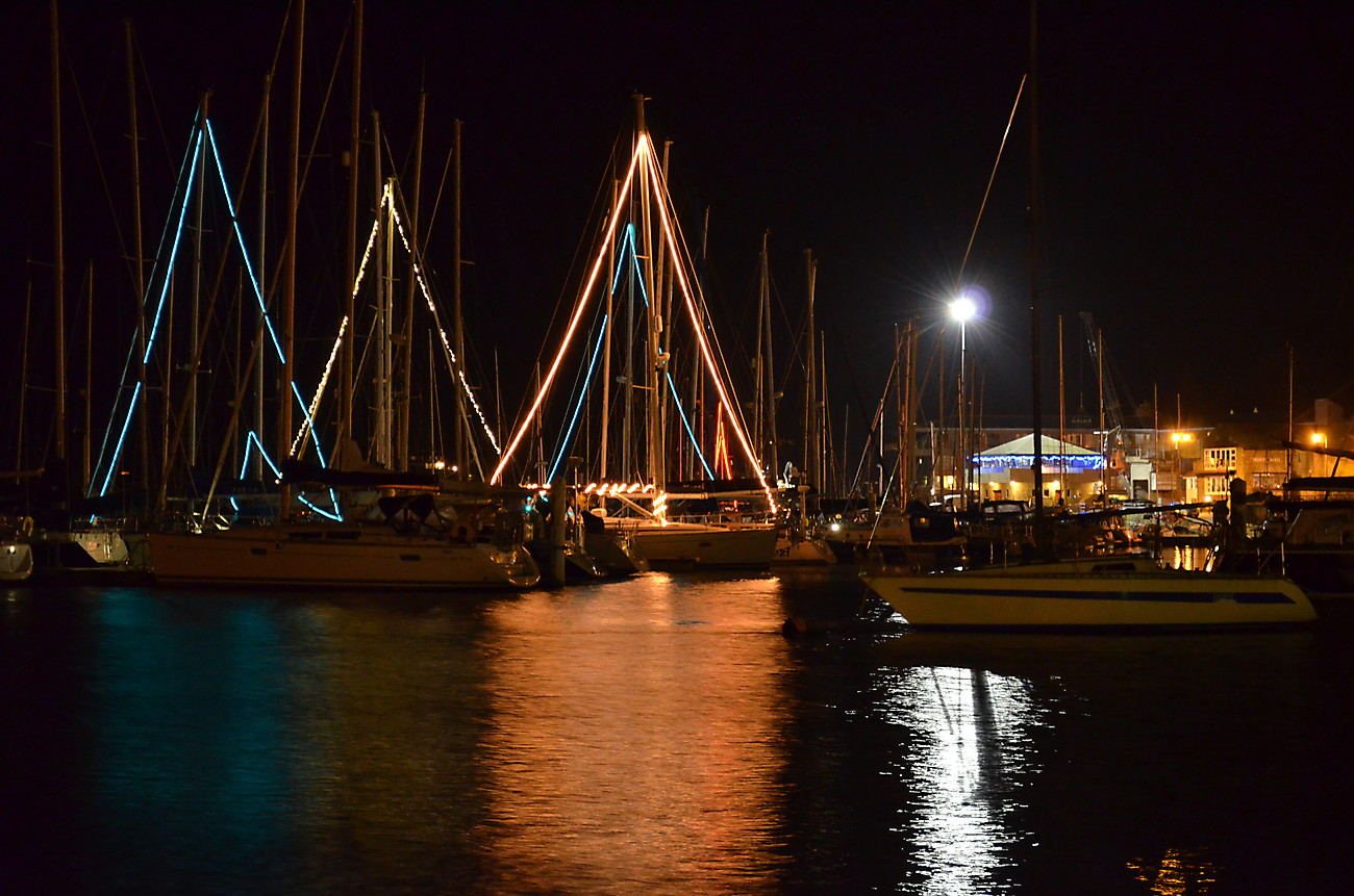 Harbour aglow. Christmas 2011.