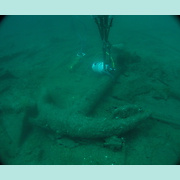 AUD anchor underwater prior to lifting.