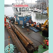 Timbers recovered from PEGU wreck.