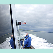 Irish Coastguard's helicopter Rescue-117, (EI-CXS), on her initial approach to HARPY.