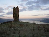 De Courcy castle ruin.