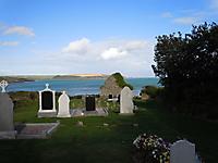 Courtaphorteen graveyard, looking east.