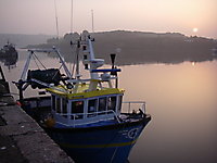Trawler ALICE AGAIN at sunrise.