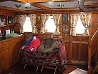 Dunkirk plaques in main saloon.