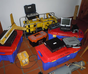 HARPYs survey and search equipment at the ready.